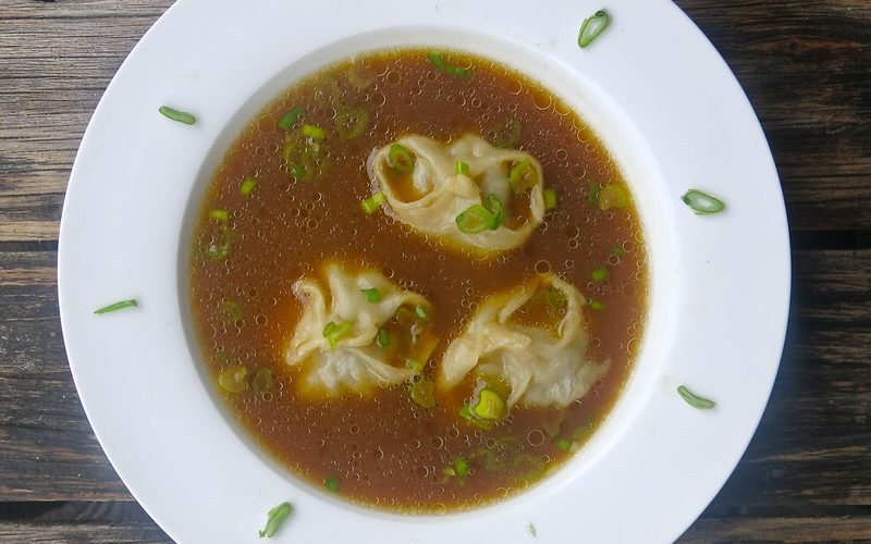 Russian Dumpling Won Ton Soup