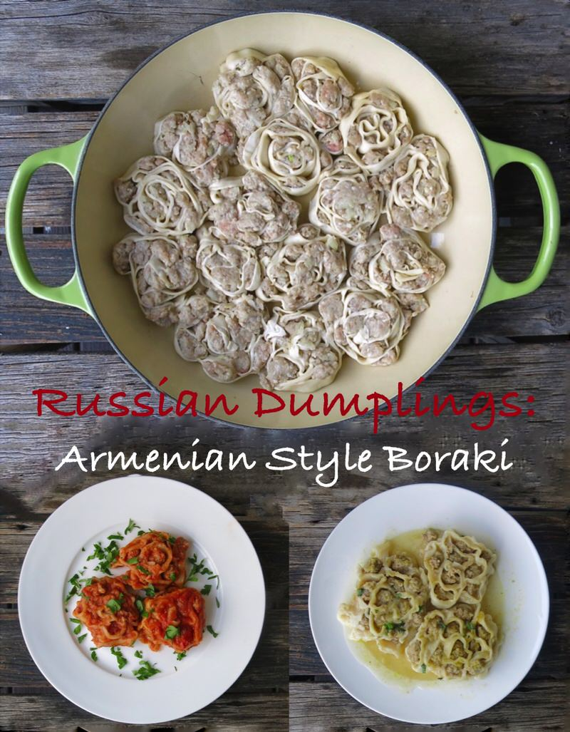 Russian Dumplings: Armenian Style Boraki with Nadja Kerstane Cooking in the Kitchen with Valerie at www.ACanadianFoodie.com. Learn how now!
