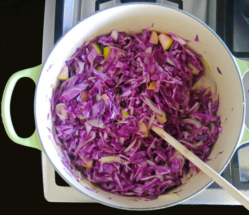 braised purple cabbage