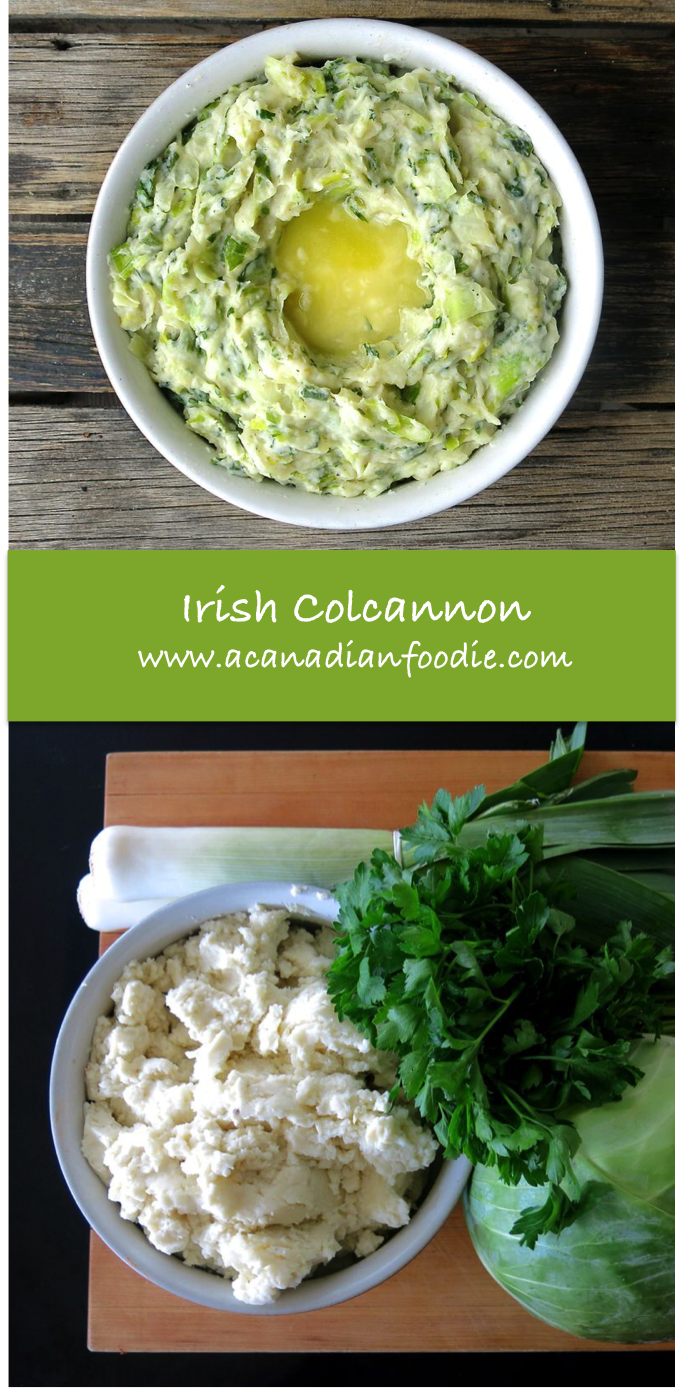 Irish Colcannon: delicious side using leftover mashed potatoes. Rich in dark green vegetables and children love it!  www.acanadianfoodie.com