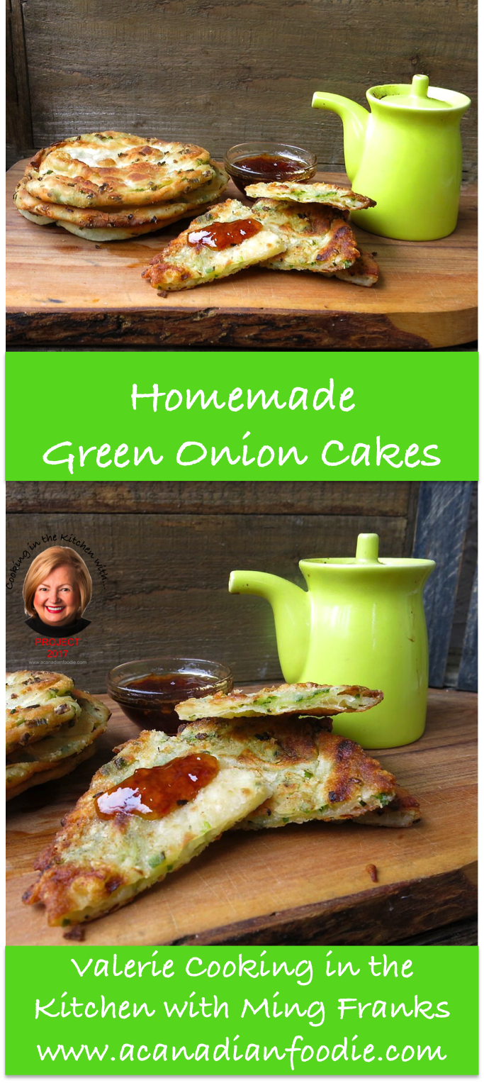 Cooking Homemade Green Onion Cakes in the Kitchen with Ming Franks! Edmonton's claim to fame: our incredible Green Onion Cake! Step by Step images included. #ACFValerieCookingwithYOU! www.acanadianfoodie.com