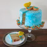 Malted Milk Cake: A Speckled Robin's Egg Blue Celebration of Spring and New Beginnings