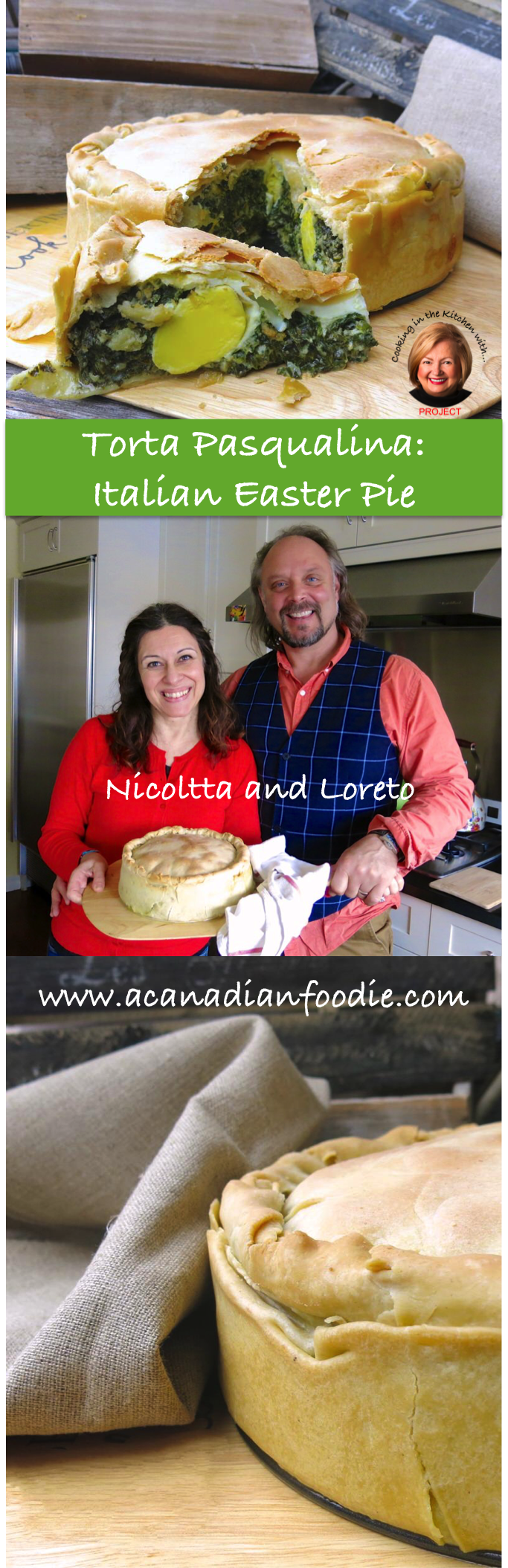 Torta Pasqualina: Traditional Italian Savory Easter Vegetarian Pie #ACFValerieCookingWithYOU! with Nicoletta and Loretto at SugarLoveSpices Step-by-Step Images. Celebrate Spring! www.acanadianfoodie.com