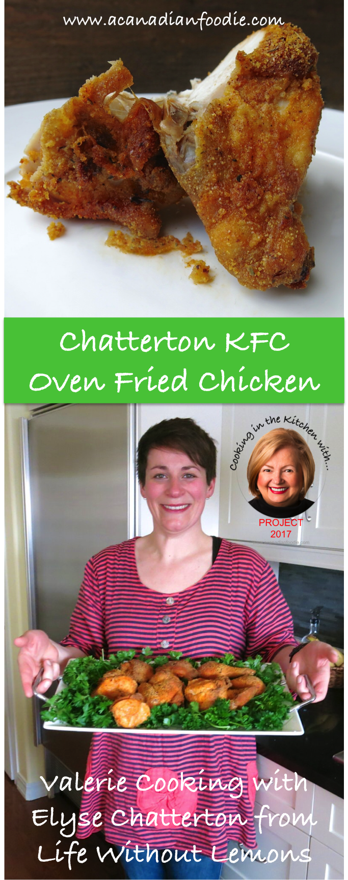 Homemade Oven Baked KFC Chicken: Project 2017, #ACFValerieCookingwithYou! Elyse Chatterton at Life Without Lemons butchers a chicken: 7 videos with detailed step-by-step instructions included #ACFValerieCookingwithYou www.acanadianfoodie.com