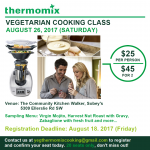 Thermomix Cooking Class August 26 2017 Edmonton