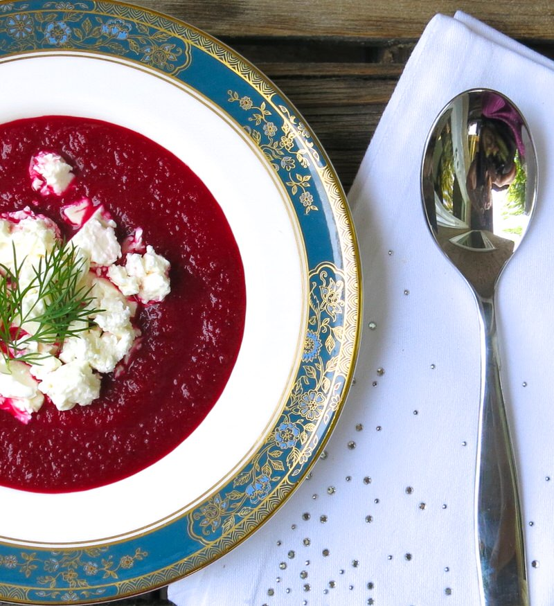 Apple Beet Soup with Feta
