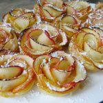 Apple Roses in Puffed Pastry with Homemade Apricot Jam