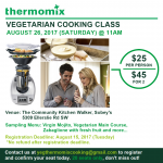 Thermomix Owners and Curious Customer Cooking Class August 26 2017