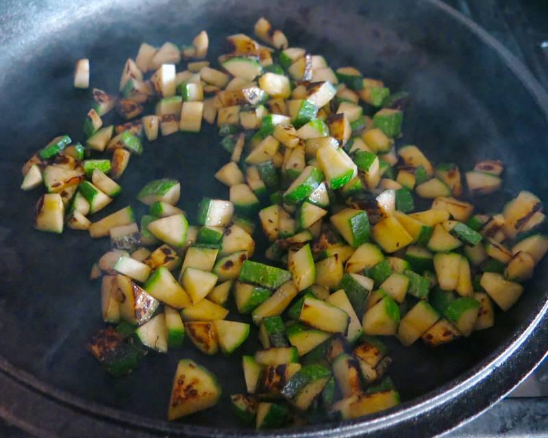Charred Corn, Zucchini and Tomato Salad