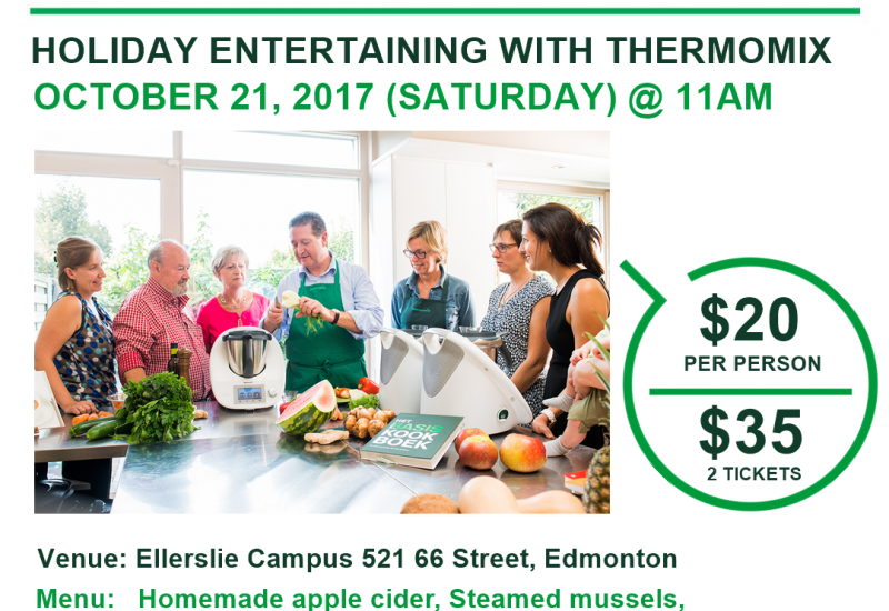 Thermomix Cooking Class: October 21 2017 in Edmonton