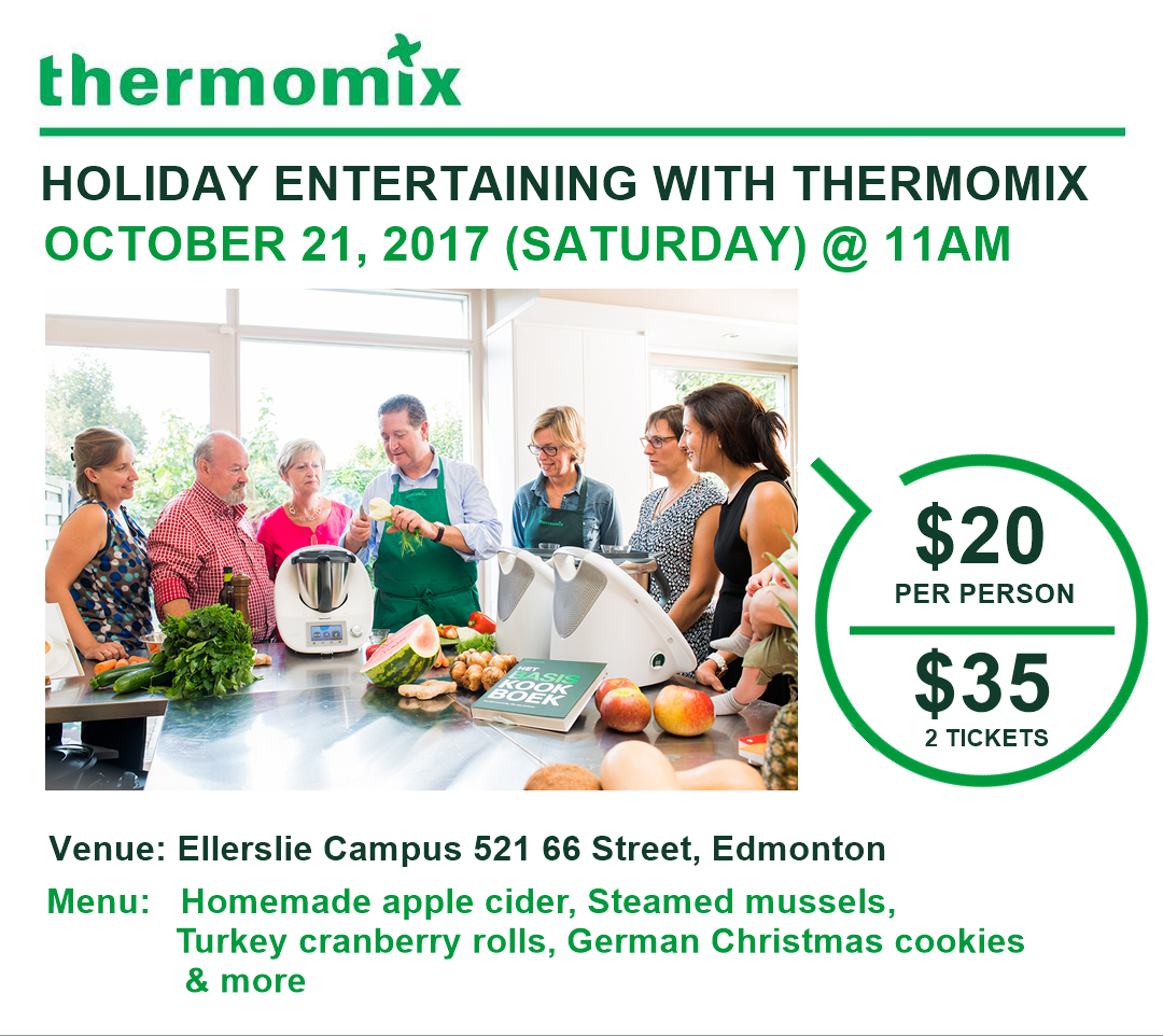 thermomix cooking class october 21 2017 in edmonton. Black Bedroom Furniture Sets. Home Design Ideas