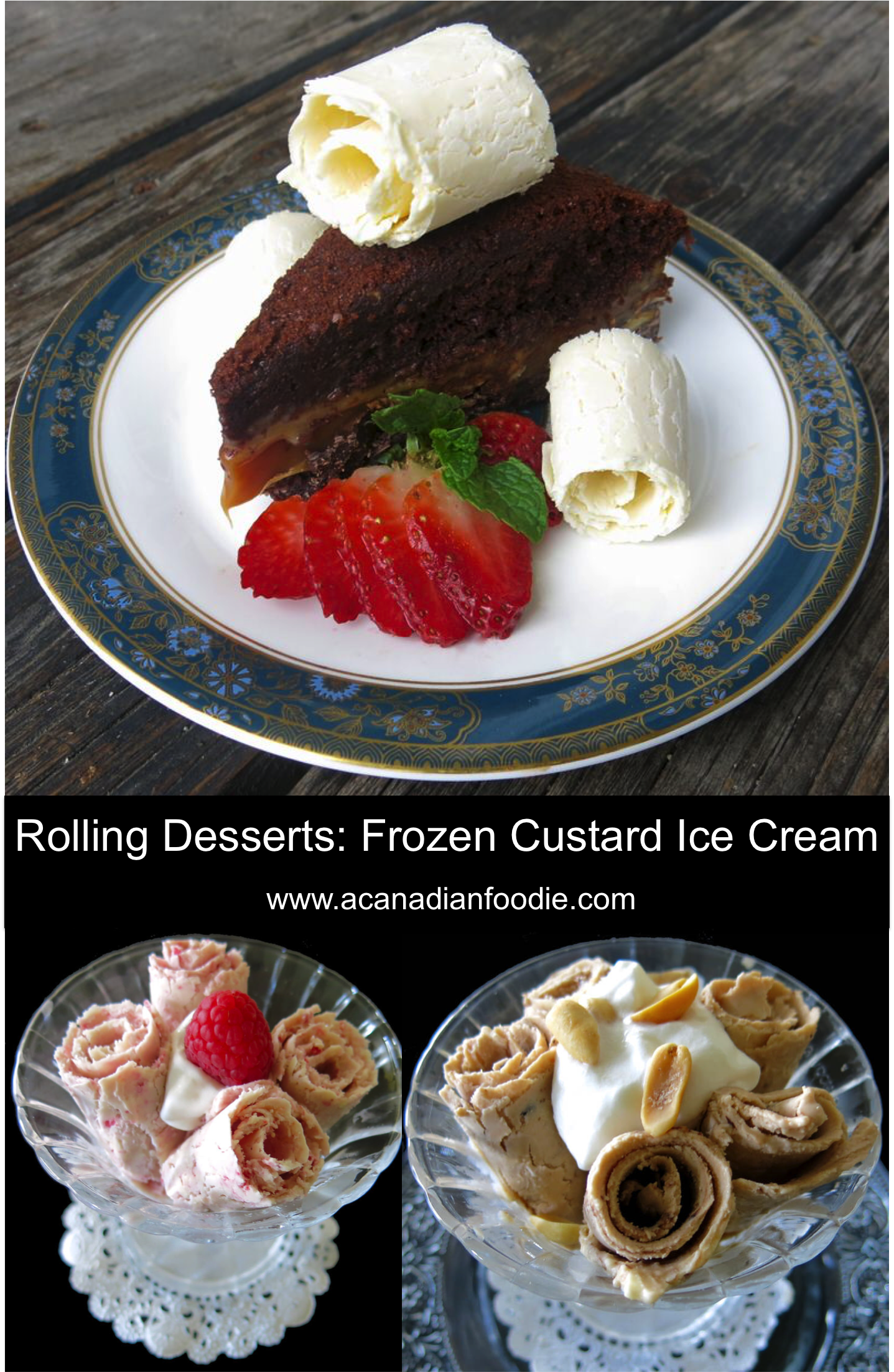 Rolling Desserts Ice Cream Flavour Ideas: step-by-step instructions with video. Great party station! @rollingdesserts #rolledicecream