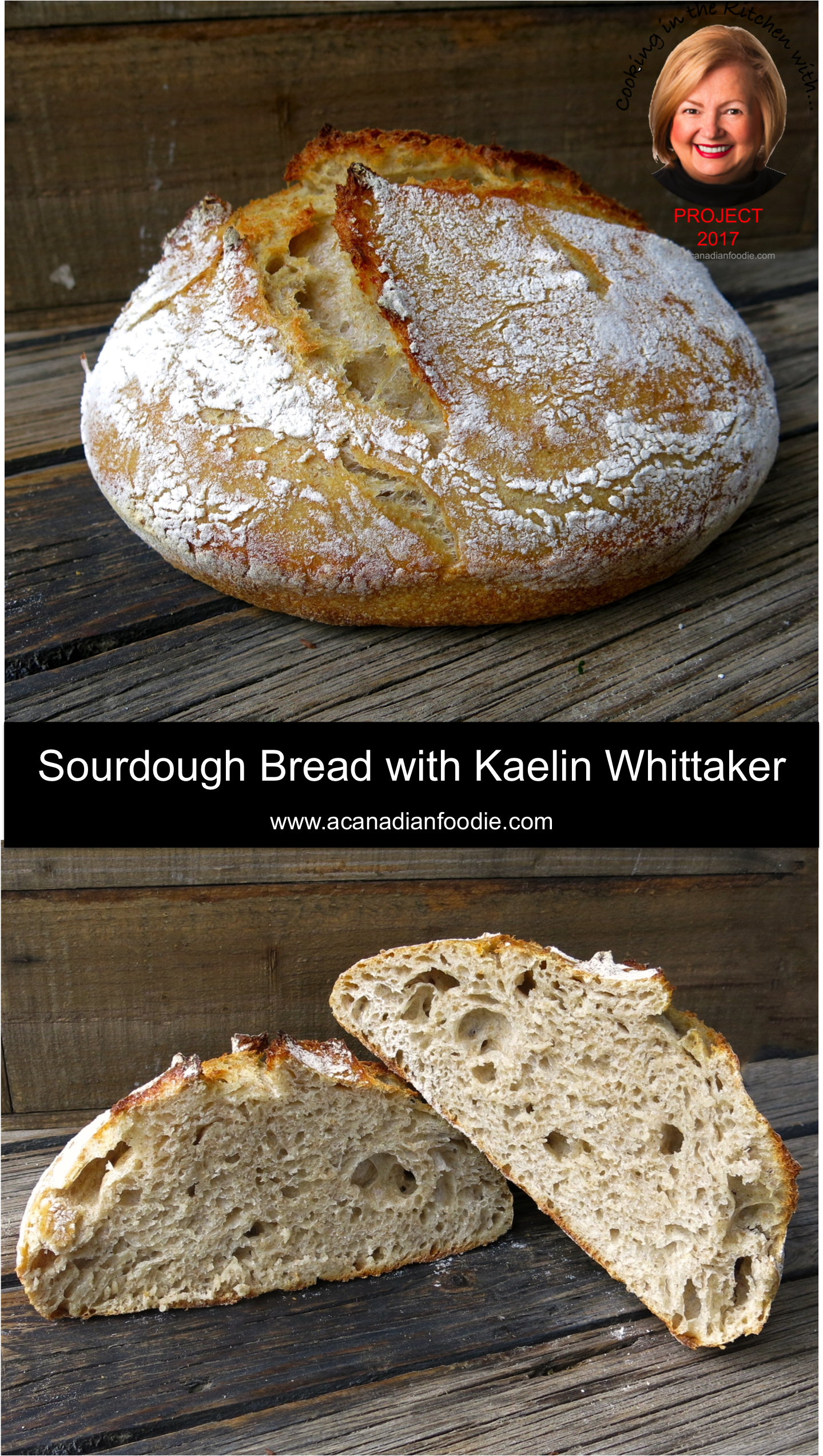 How to make great Canadian Prairie Sourdough Bread in Alberta with Kaelin Whittaker of The Ruby Apron, founder of Real Bread Alberta is a real eye-opener! #ACFValerieCookingWithYou! #realbreadAB #sourdoughbread