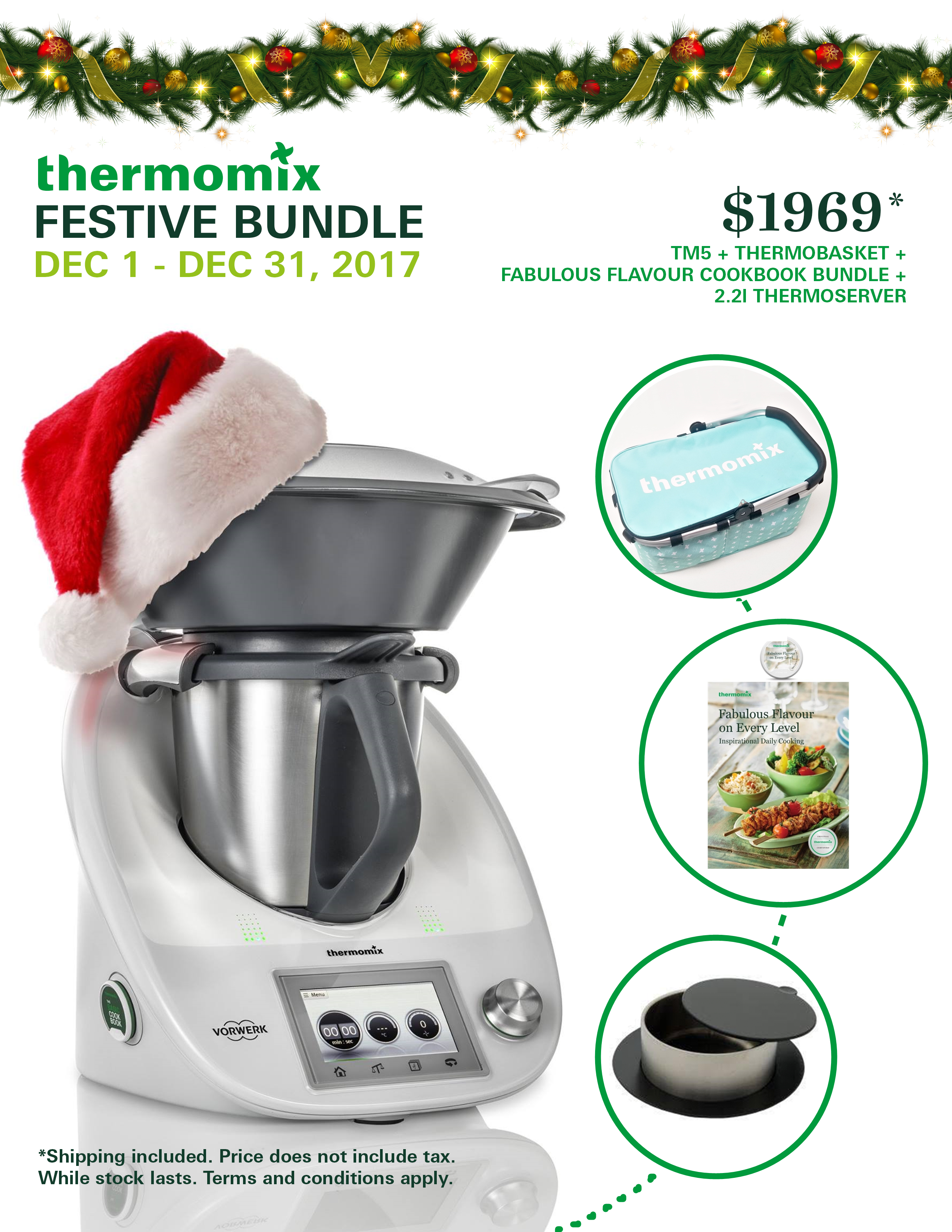 Buy a Thermomix for Christmas! The time is now! Thermomix Customer Incentive December 2017 includes two great free gifts and other options. #Thermomix