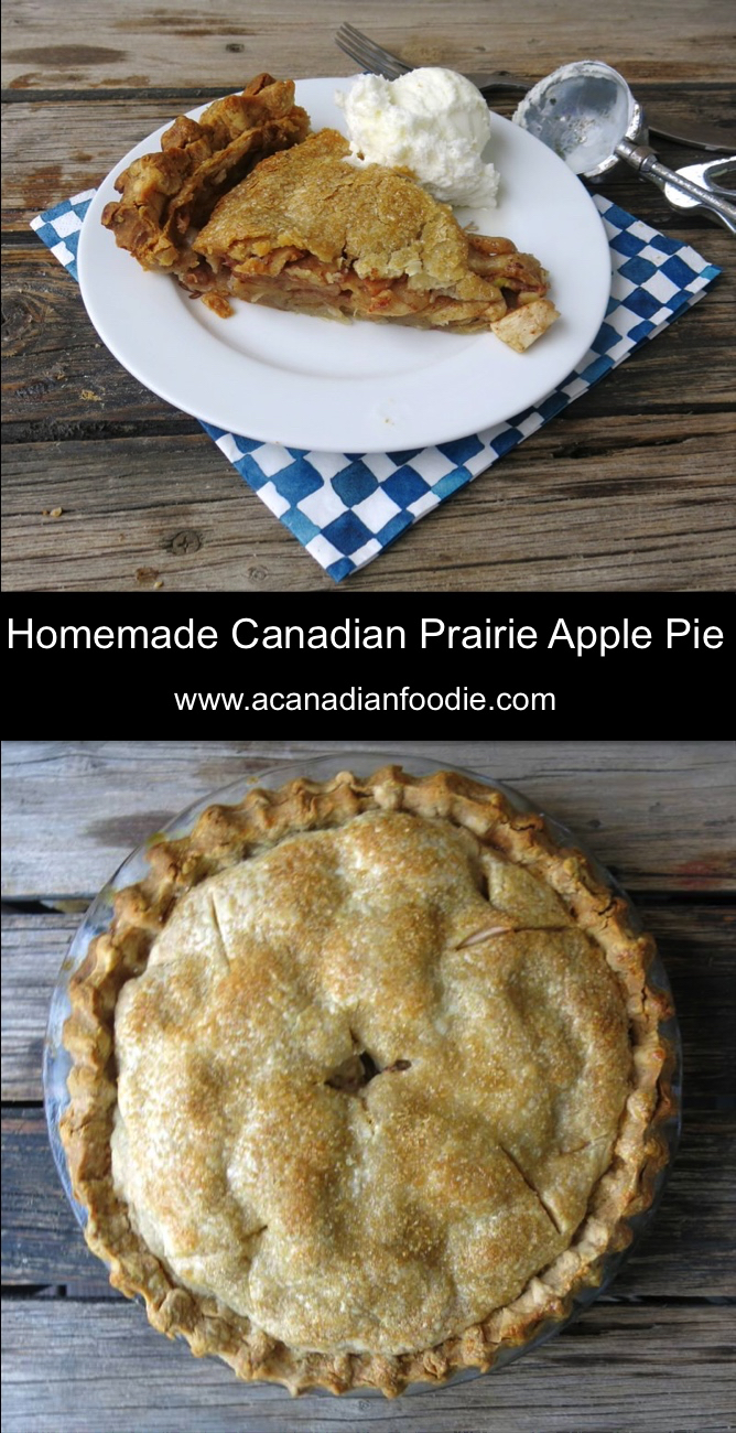 Homemade Apple Pie was a Sunday Dinner Favourite and is a dying Canadian Prairie traditional recipe. Nothing says