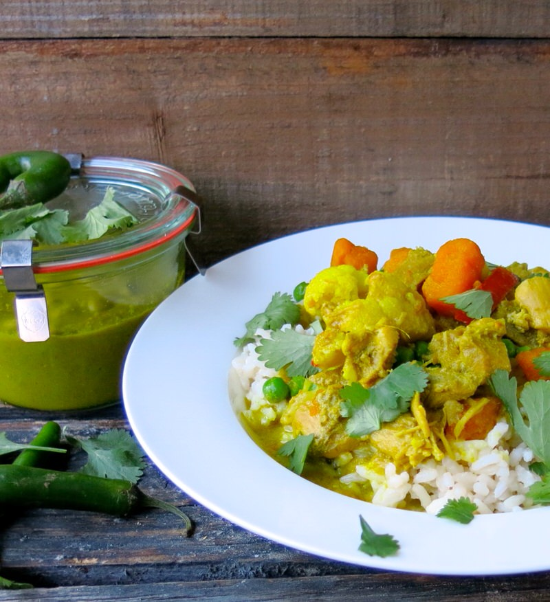 Thermomix Green Thai Curry Chicken