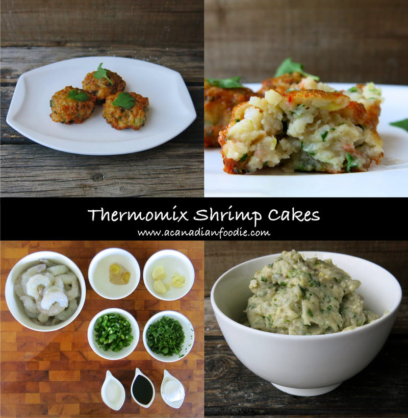 Thermomix Shrimp Cakes are An Irresistible Crowd Pleasing Appetizer with a powerful punch of unexpected flavour. Two minutes to make and 10 minutes to fry (in 6 at a time). Fast. Flavourful. Fabulous. #Thermomixappetizer #Thermomixshrimpcake #Thermomixasian