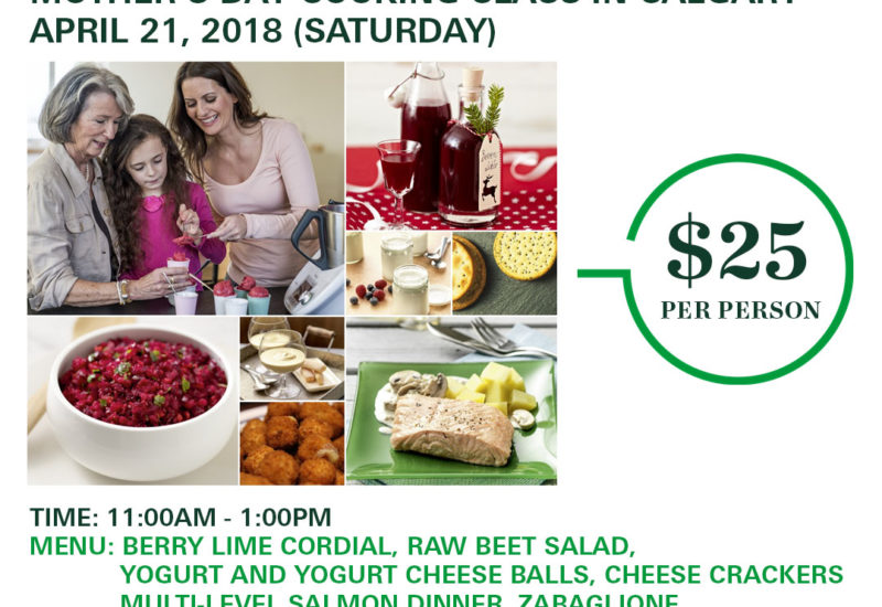 Thermomix Cooking Class In Calgary April 21 2018 for Owners and Friends