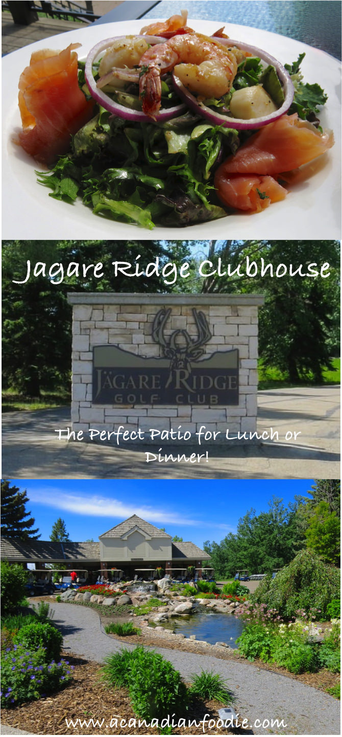 Jagare Ridge Clubhouse: A Delicious Summer Patio Restaurant Option. The Menu satisfies all and the setting is second to none. @jagaregolf
