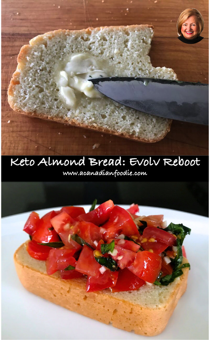 Keto Almond Bread: Project 2019 Evolv Health Total Reboot (Gluten Free) 10 servings completely satisfy bread craving. Per Slice: 20 g fat, 9 g protein, 5 g carbs #evolvhealth #ACFTotalReboot #glutenfreebread #ketobread #almondbread