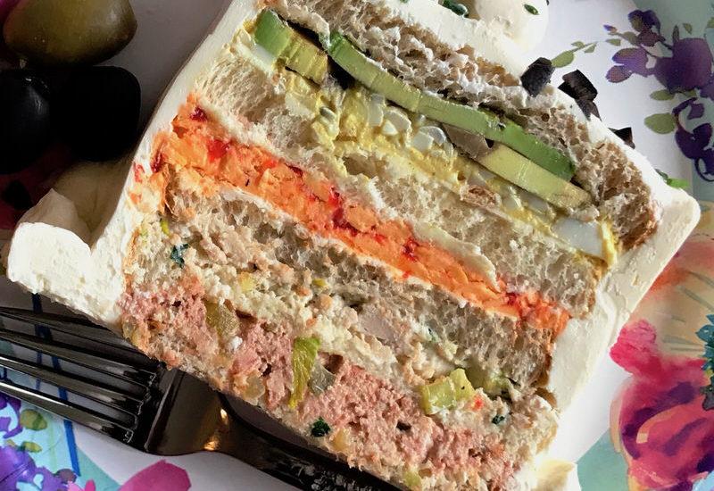 Retro Frosted Tea Sandwich Loaf: Happy 89th Birthday Mom!