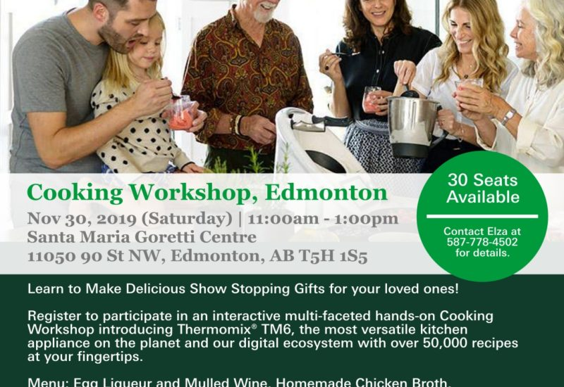 Free Edmonton Thermomix Cooking Workshop: Featuring the TM6!