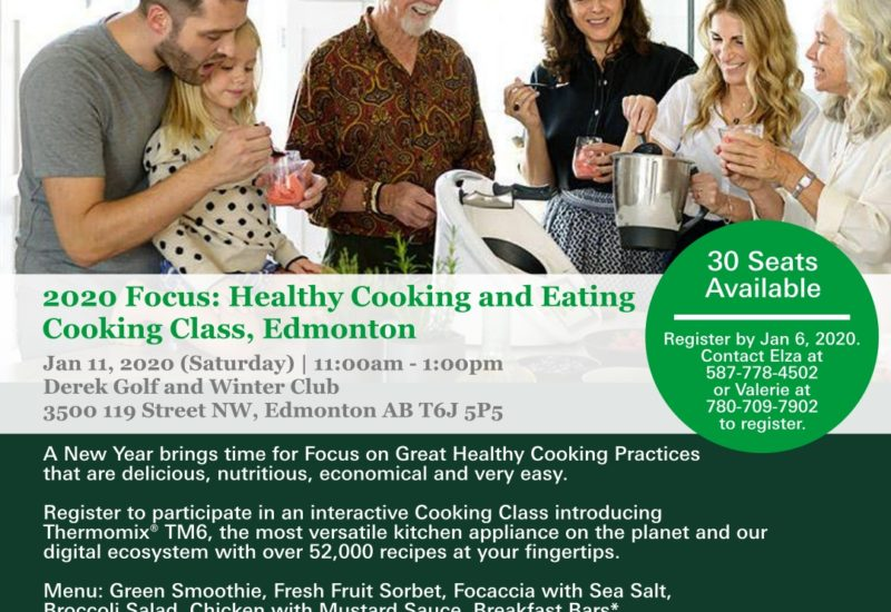 Thermomix Cooking Class In Edmonton January 11 2020