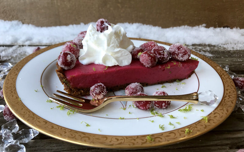 Cranberry Lime Curd Tart