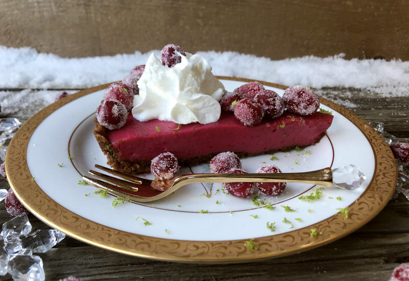 Cranberry Lime Curd Tart with Pecan Ginger Crust: A Festive Finale