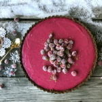 Cranberry Curd Lime Tart