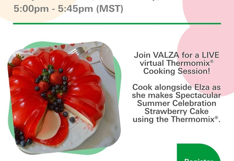 Cooking with VALZA: Virtual Thermomix® Cooking Opportunity