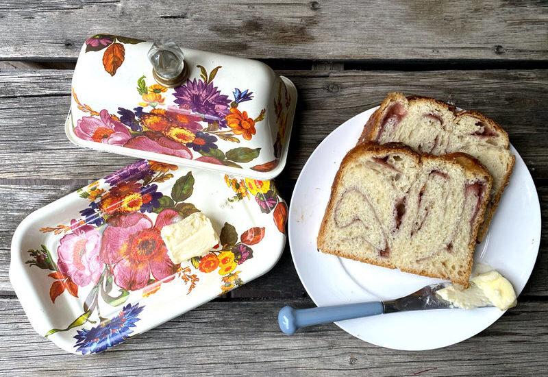 Rhubarb Brioche Bread with Ragan's Strawberry Rhubarb Jam
