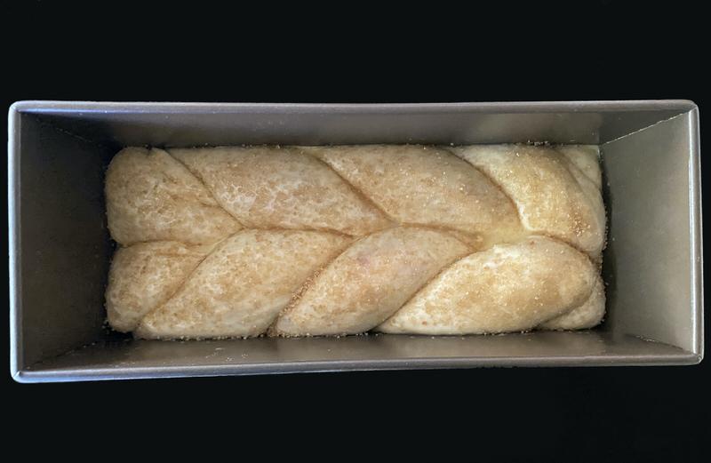Rhubarb Brioche Bread