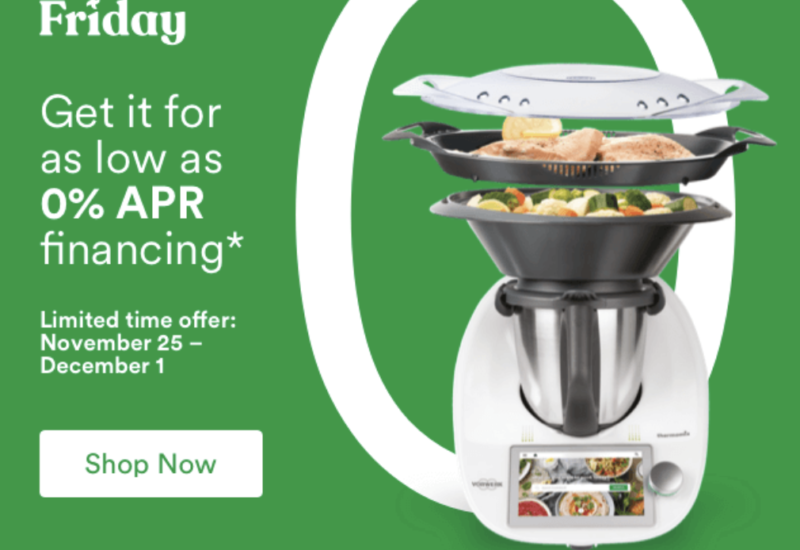 Thermomix 0% Financing Available Nov 25 to Dec 1 noon PST