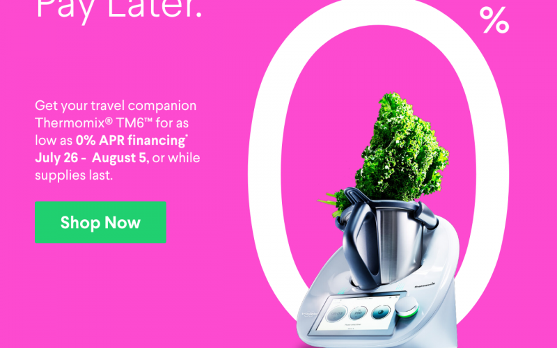 Thermomix TM6 with 0% Financing